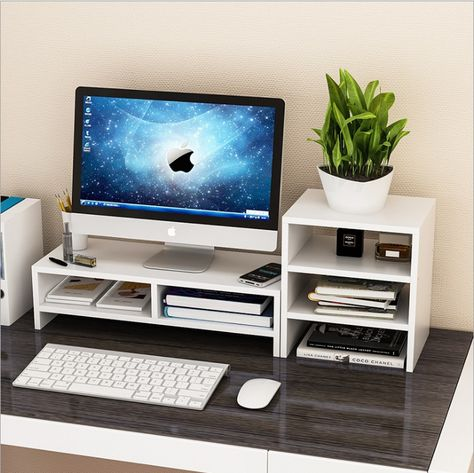 Computer Monitor Riser,Ymiko Desktop Monitor Stand LCD TV Laptop Rack Computer Screen Riser Shelf Platform Office Desk Black - Walmart.com