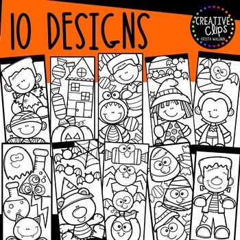 Halloween Coloring Bookmarks Made By Creative Clips Clipart Coloring Bookmarks Halloween Coloring How To Make Bookmarks