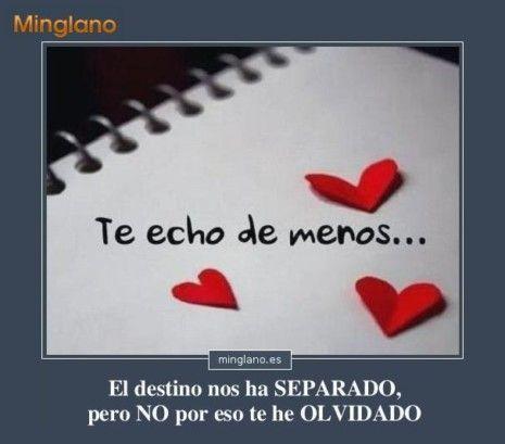 Imágenes Con Frases Te Echo De Menos Frases De Amor Echar