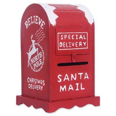 Exclusive Decorative Red Metal Santa Mailbox Santa Mailbox
