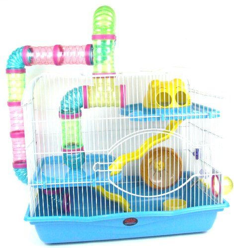 Aquarline Dublinsmall Animal Cage Suitable For Syrian Hamsters Rats Gerbils And Other Small Animals Extra Large Blue Hamstercagesdepot Syrian Hamster Small Pets Pet Cage