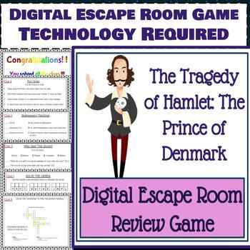 Hamlet Shakespeare Digital Escape Room Game Review Distance Learning Escape Room Escape Room Game English Classroom