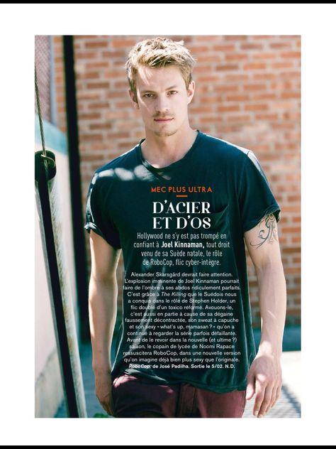 Joel Kinnaman in GLAMOUR magazine France (digital issue, March 2014)