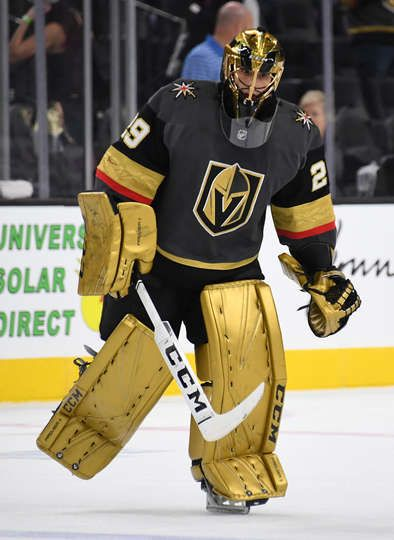 Las Vegas Nv November 16 Marc Andre Fleury 29 Of The Vegas Golden Knights Warms Up Prior To A Golden Knights Hockey Las Vegas Knights Vegas Golden Knights