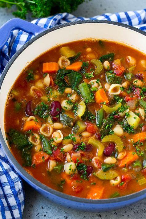 Olive Garden Minestrone Soup Recipe | Minestrone Soup | Copycat Recipe #minestrone #soup #italianfood #vegetarian #dinner #dinneratthezoo