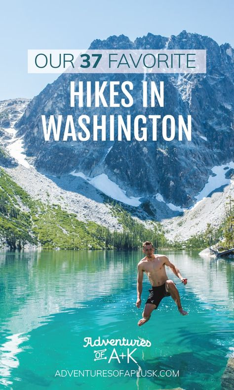 Looking for the best hikes in Washington? We're sharing 37 of our favorites, ranging in skill level and full of alpine lakes, mountain views, & waterfalls! North Cascades, Mount Rainier Hikes, Places To Travel, Places To Go, Best Hikes, Day Hike, Pacific Northwest, Travel Usa, State Parks