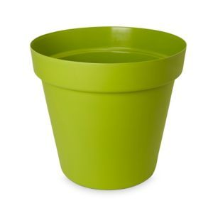 Nurgul Glazed Green Plastic Plant Pot Dia 40cm In 2020 Plastic Plant Pots Potted Plants Green
