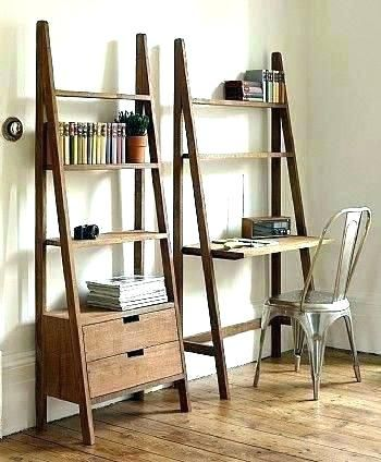 Bookcase Ladder Bookcases Leaning Bookcase With Desk Bookcase Desk