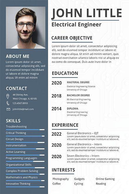 Informatique Telecom Et Instrumentation Engineering Resume Templates Job Resume Template Resume Design Free