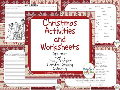 this is 20 pages of worksheets and activities around the theme of christmas the activities are distinctive and varied from a poem written by myself