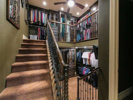 Two Story Closet In A House Thatu0027s For Sale Out In Lake Las Vegas.