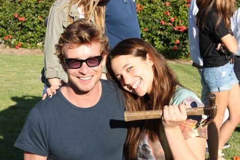 Simon Baker with his daughter Stella Breeze