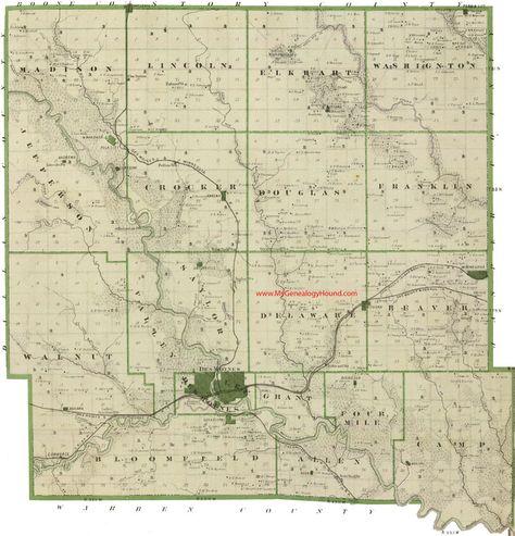 Polk County Iowa 1875 Map Des Moines Mitchellville Altoona