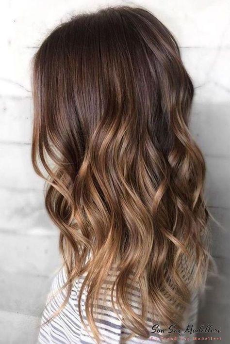 Pattern Haarfarbe Bronze Ombre Braun Ombre Haare