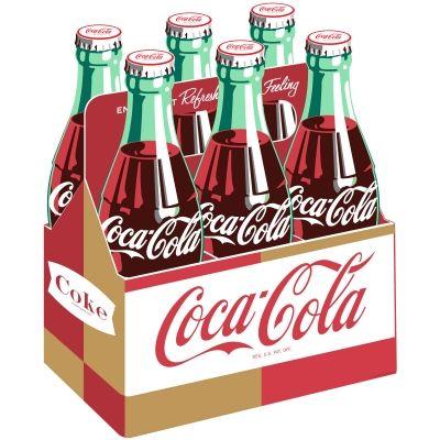 Coca-Cola Contour Coke Bottle Pop Art Decal 7 x 24 Coke Kitchen Wall Decor