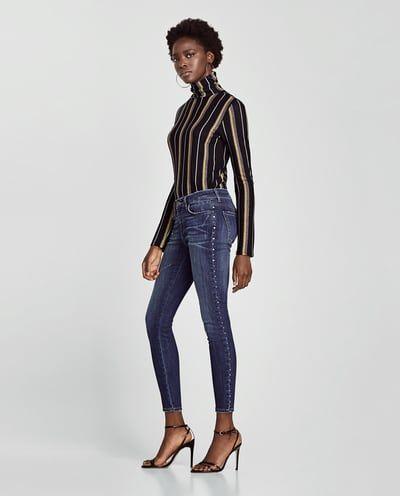 505871d95c35e7 Jeans z1975 mini flare | zara | Jeans, Zara jeans, Striped jeans