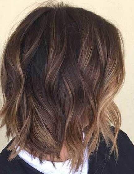 Women S Short Hairstyle Short Hair Balayage Brown Hair Balayage Short Dark Brown Hair