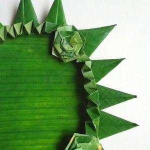 Cara Melipat Daun Pisang Untuk Hiasan Tampah Kreatif Bunga Kertas Penyajian Makanan