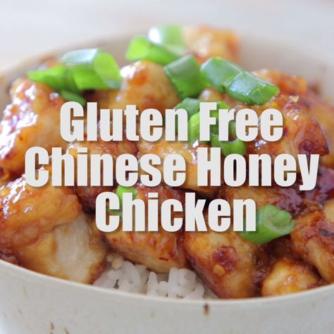 This Chinese Honey Chicken Recipe is healthier and better than takeout. It's easy to make at home in only 29 minutes, and it's one of the best gluten free recipes ever!