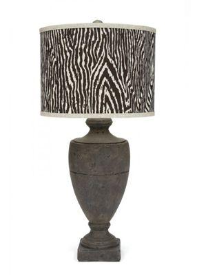 Gallery Designs Lighting Chocolate Zebra Animal Print Shade On