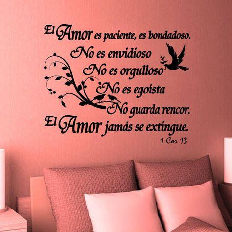 Wall Decal. Bible Scripture. 1 Corintios 13. El Amor. Vinilos