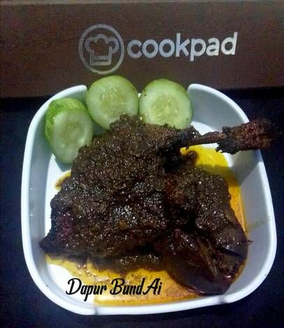 Resep Bebek Bumbu Hitam Khas Madura Oleh Dapur Bundai Resep Resep Resep Sederhana Ide Makanan