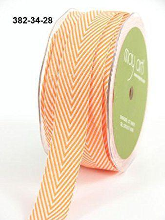 May Arts 10mm Stitch Edge Reversible Satin Ribbon 2m