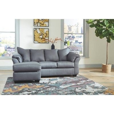 Darcy Sofa Chaise Steel Signature Design By Ashley Chaise Sofa