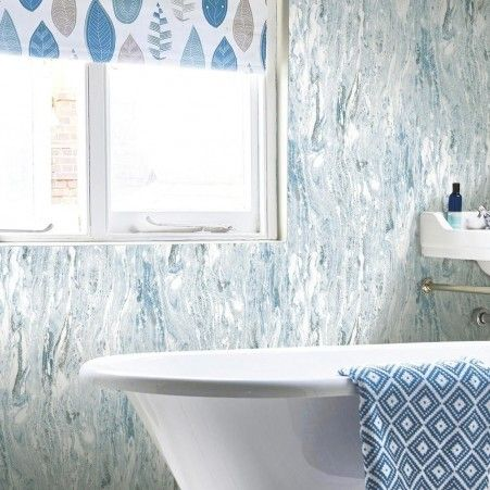 Blue Satellite Seas Peel And Stick Wallpaper Peel And Stick Wallpaper Room Visualizer Roommate Decor
