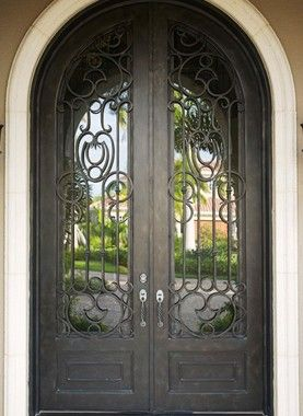 Wrought Iron Doors By Cantera Doors Leading Supplier In 2020 Wrought Iron Doors Wrought Iron Doors Front Entrances Steel Entry Doors
