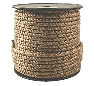 1 Inch X 600 Ft Tan Color Poly Rope 3 Strand Poly Rope Small Trash Can Manila Rope