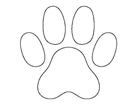 Printable Cat Pattern Paw Print Use The Outline For Crafts