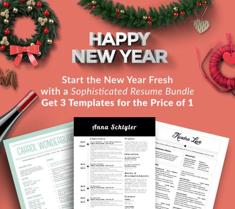 Sophisticated Resume Bundle Get 3 Templates for the Price of 1 to - resume start
