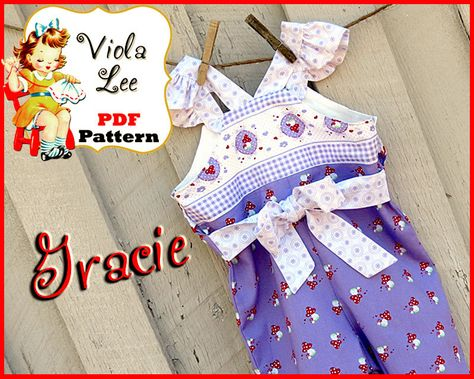 031a5bc0fda8 I like these sleeves- Girl s Romper Pattern