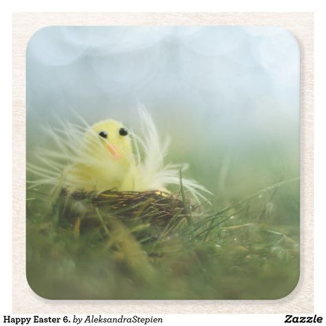 Happy Easter 6. Square Paper Coaster #happy Easter gifts Happy Easter 6. Square Paper Coaster   Zazzle.com