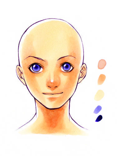Skin Tones How To Color Skin Tones Manga Art How To Draw Manga Instruction Colors For Skin Tone Copic Marker Art Drawings