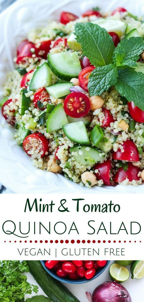 Mint Tomato Quinoa Salad