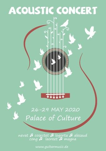 Download Acoustic Concert Poster Template For Your Event Music Acoustic Concert Poster Templ Music Poster Design Concert Poster Design Blues Music Poster
