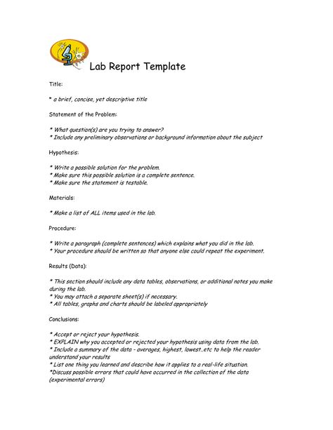 Scientific data , 7 Formal Lab Report Template  Formal Lab Report - Summary Report Template