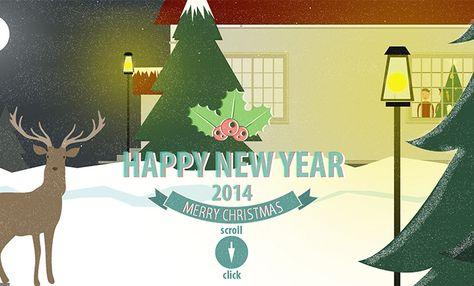 Happy New Year 2014 Web Design Noel Design