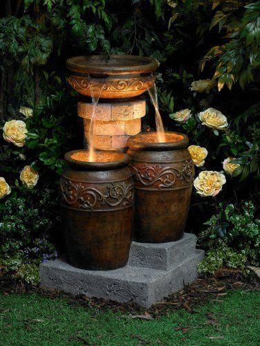 Rustic Pots Water Fountain Maybe Add A Little Rustic To The Place Diy Fountain Water Fountain Small Water Gardens