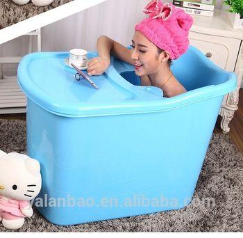 Adult Inflatable Bathtub Folding Travel Steam Sauna Spa Home Blue