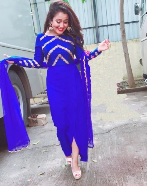 Pin On Neha Kakkar Style Indo Western Gown Lehenga Choli Saree Skirt Top