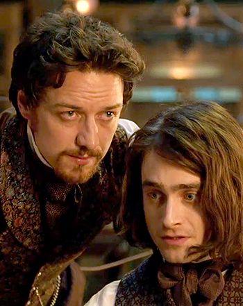 Daniel Radcliffe James Mcavoy Raise A Monster In Victor Frankenstein James Mcavoy Victor Frankenstein Daniel Radcliffe