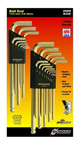 Bondhus 20899 Balldriver Goldguard Finish L Wrench Double Pack 38099 1 5 10mm And 37937 050 3 8 Inch Review Hex Key It Is Finished Wrench