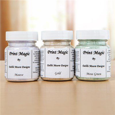 Debbi Moore Stardust Print Magic Kit - 3 Pots of Print Magic Powder (147596)…