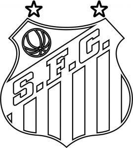 Emblema Do Santos Futebol Clube De Santos Sp Para Colorir 17