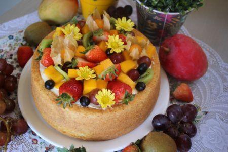 Bolo Tropical De Frutas E Creme Belga De Leite Ninho Com Imagens