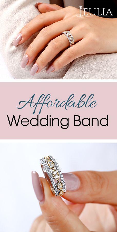 Affordable Wedding Band Premium Grade Jewelry Anniversary Jewelry For Her Jeuliajewelry Affordable Wedding Bands Womens Wedding Bands Wedding Bands