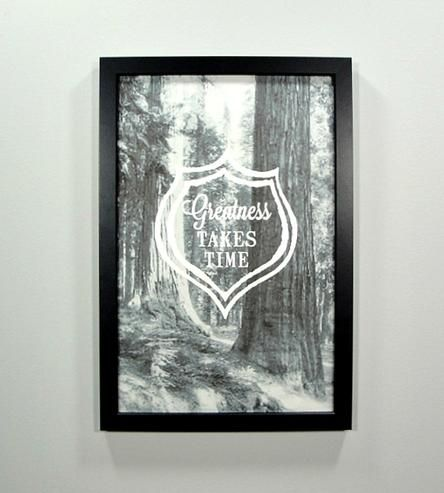 Greatness Takes Time Framed Art Print by Canton Box Co.  on Scoutmob Shoppe